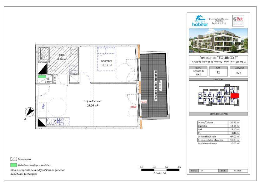 Appartement à louer 47m2 à Montigny-lès-Metz