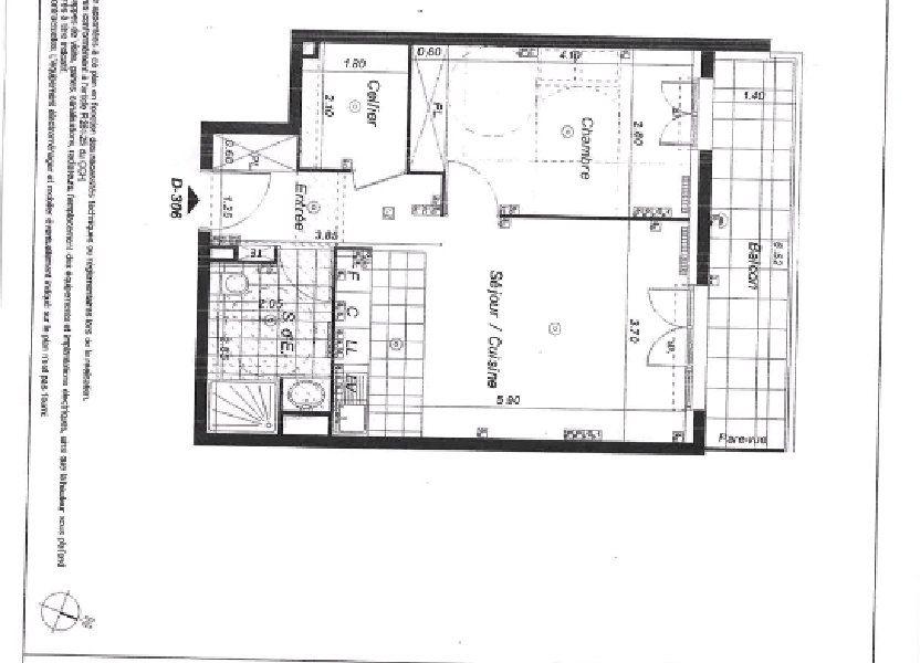 Appartement à louer 48.61m2 à Lognes