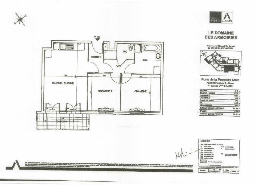 Appartement à louer 57m2 à Le Blanc-Mesnil