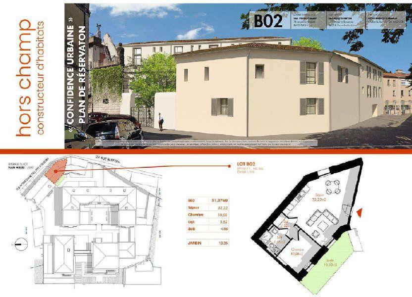 Appartement à vendre 51.37m2 à Avignon
