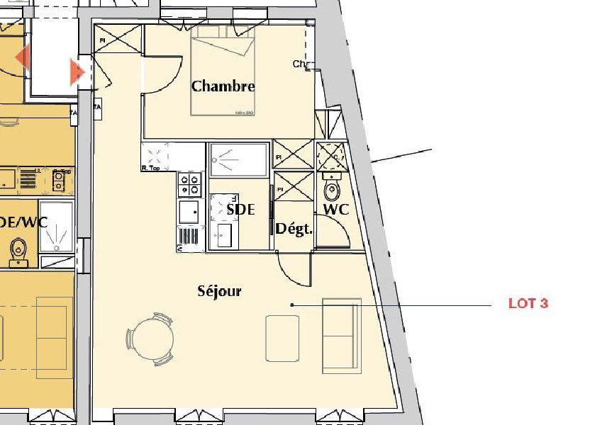 Appartement à vendre 46.5m2 à Bordeaux