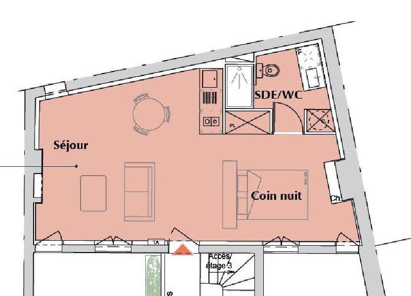 Appartement à vendre 39.2m2 à Bordeaux