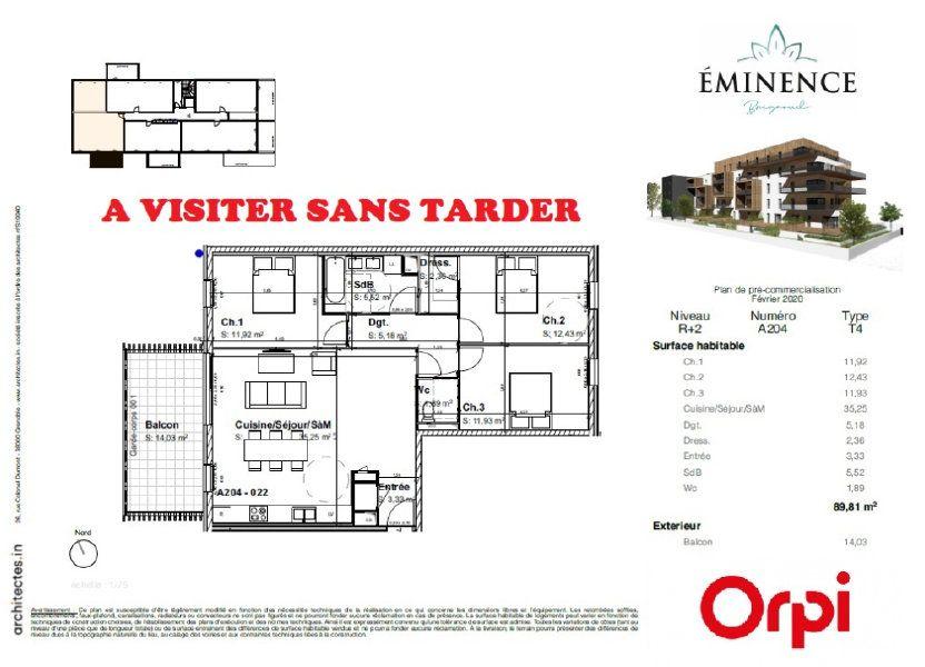 Appartement à vendre 89.81m2 à Villard-Bonnot