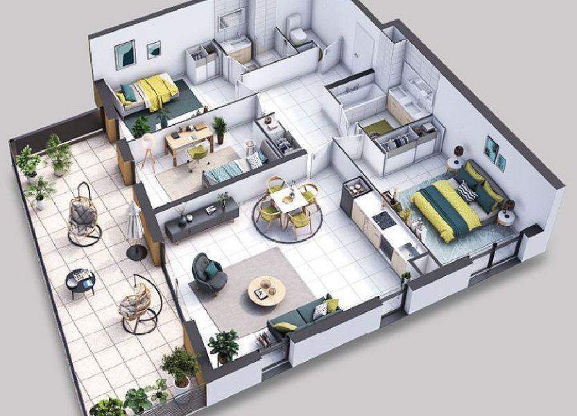 Appartement à vendre 89.3m2 à Villeneuve-lès-Avignon