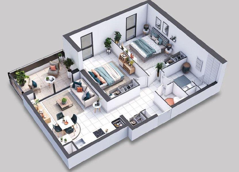 Appartement à vendre 62.45m2 à Villeneuve-lès-Avignon