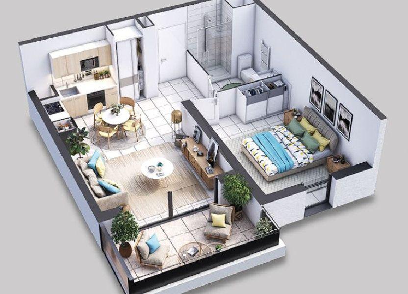 Appartement à vendre 43.7m2 à Villeneuve-lès-Avignon