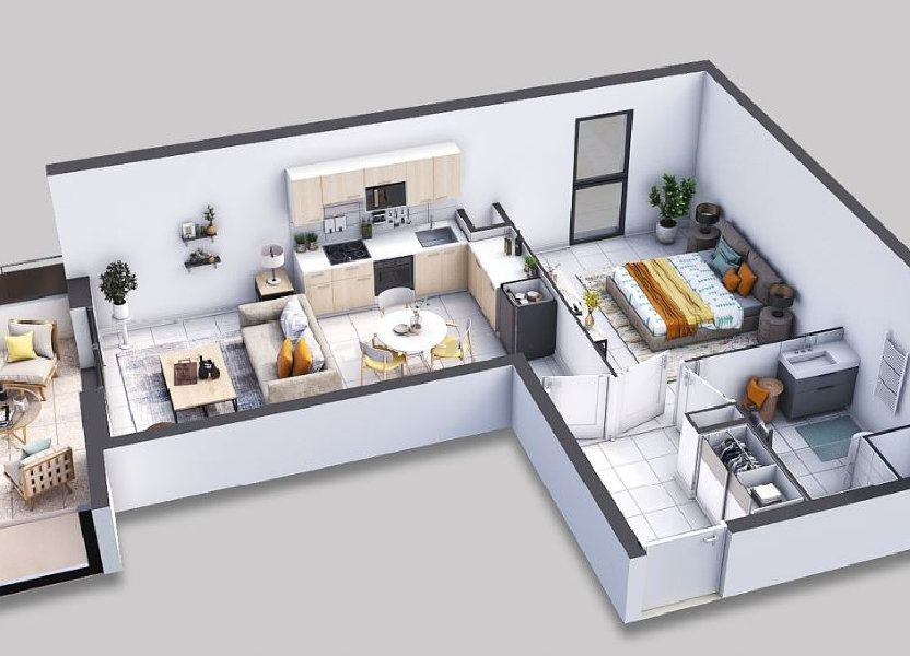 Appartement à vendre 45.3m2 à Villeneuve-lès-Avignon