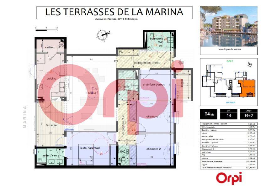 Appartement à vendre 118.82m2 à Saint-François