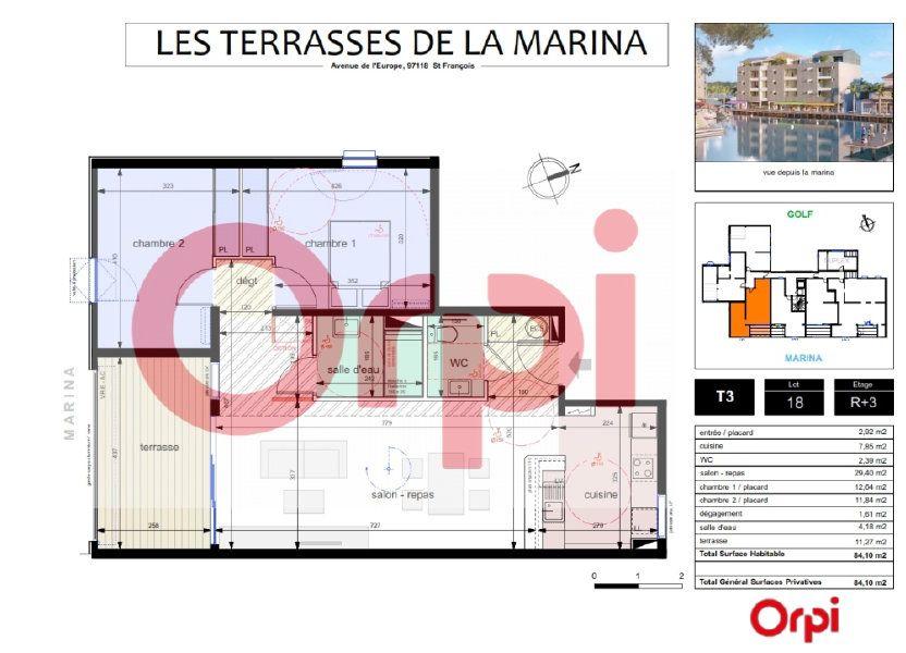 Appartement à vendre 72.83m2 à Saint-François