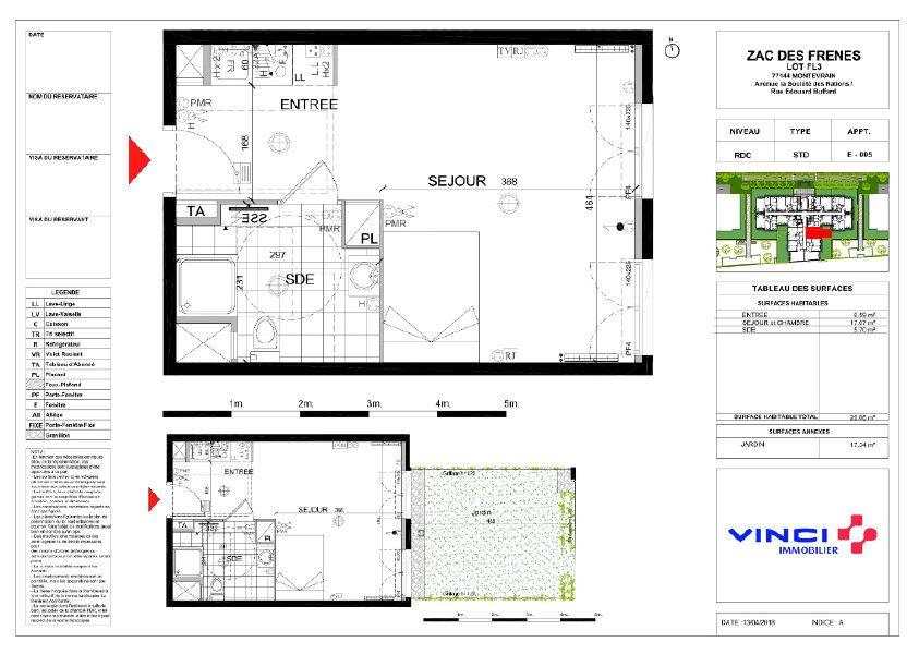 Appartement à vendre 29.68m2 à Montévrain