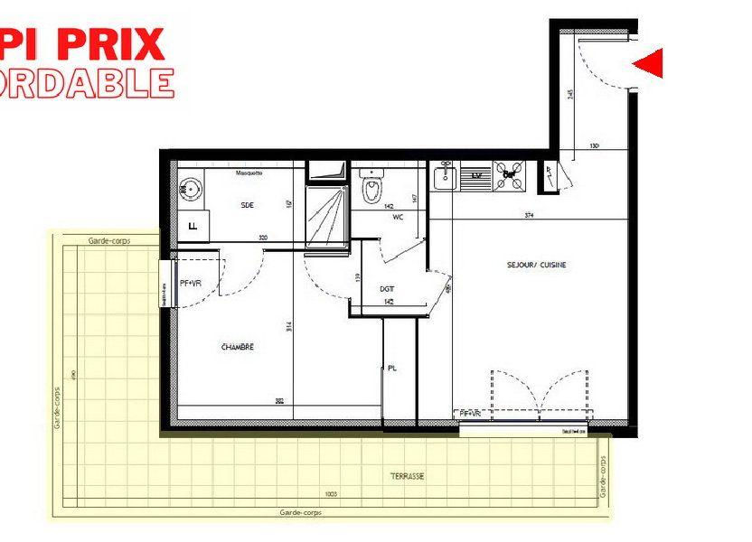 Appartement à vendre 43m2 à Montpellier