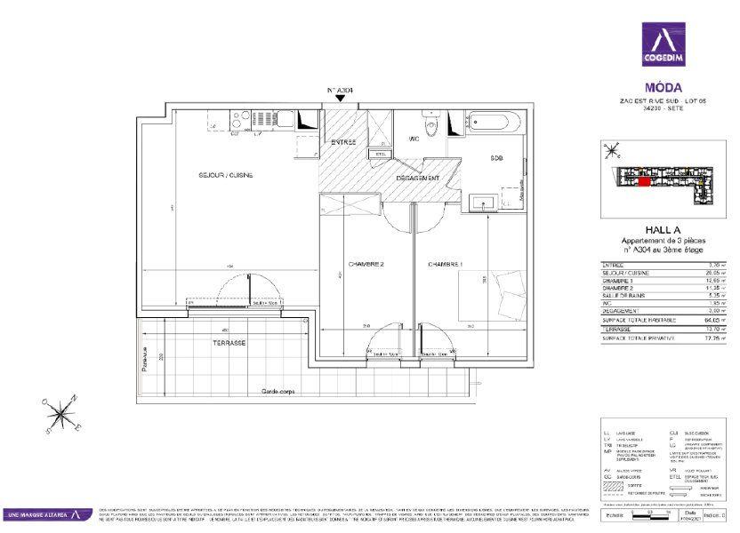 Appartement à vendre 64m2 à Sète