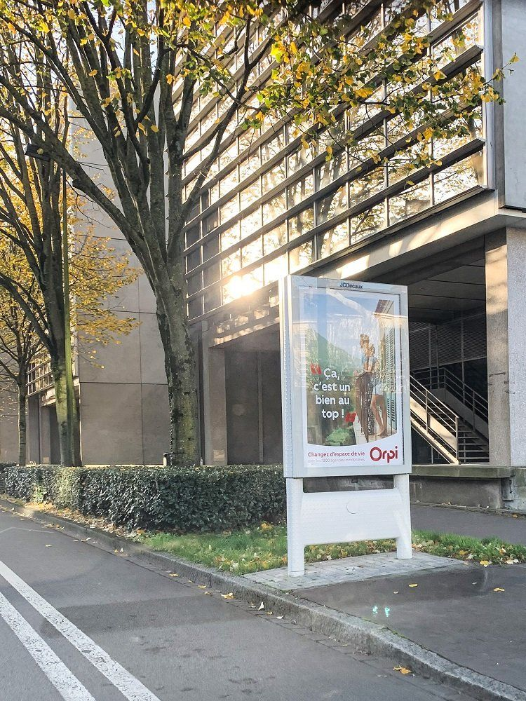 Panneau publicitaire d'ORPI sur Nantes