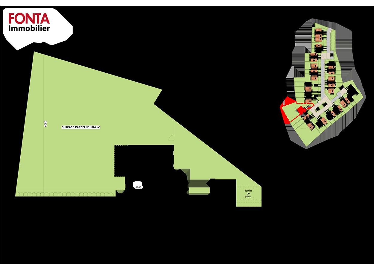 villa-numero-15-residence-jardins-de-flore-saint-sebastien-sur-loire-plans-parcellaire
