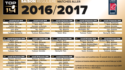 Le Top 14 reprend le 20 août